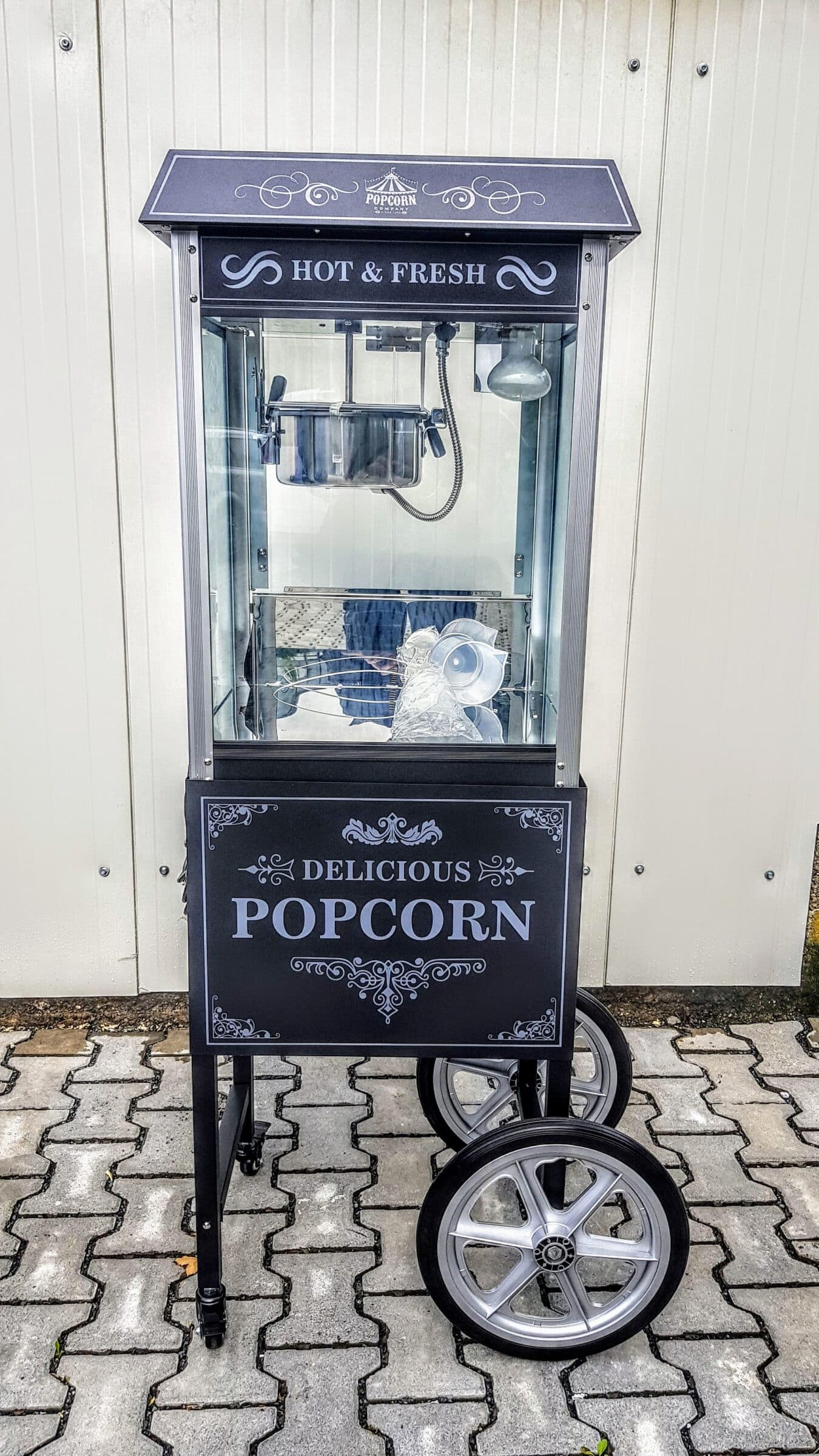 Popcornmaschine Retro schwarz