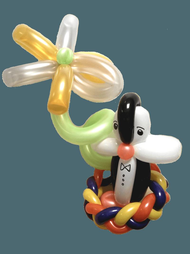 pinguin blume aus ballons