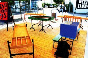 verschiedene Holzspiele als Spielstationen für Events