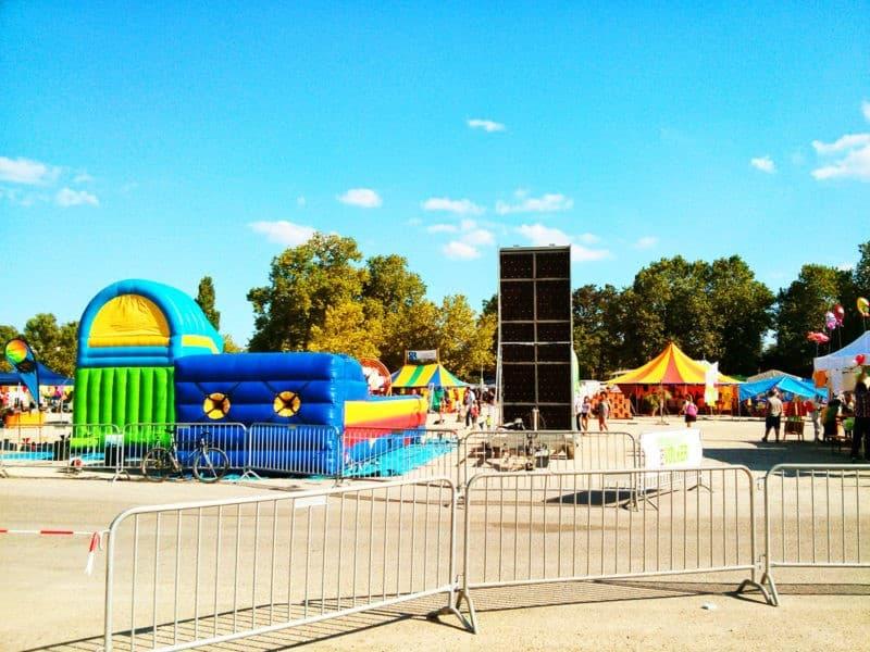 Unser Kinderbereich auf einem Festival