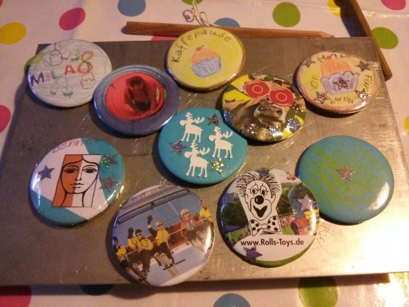 Buttons basteln mit Kindern