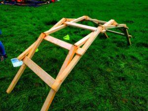 Leonardo Brücke aus Holz