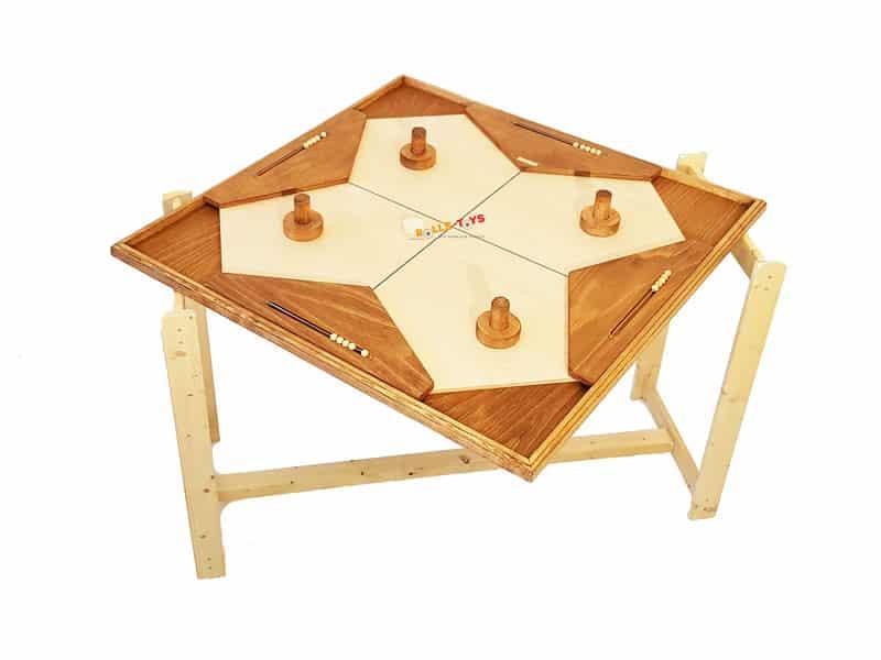 Shuffle Puck Holzspiel für 4 Spieler