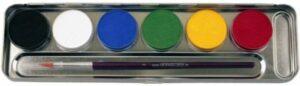 6 Farben Metall-Palette