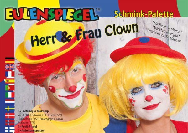 Herr & Frau Clown – Schminkpalette