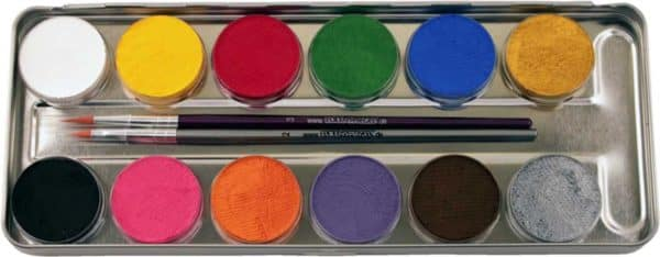 12 Farben Metall-Palette