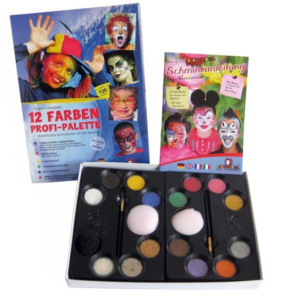 12 Farben Profi Schminkpalette mit Anleitung