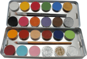 Schminkpalette: 21 Farben 3 Glitter Metall-Palette