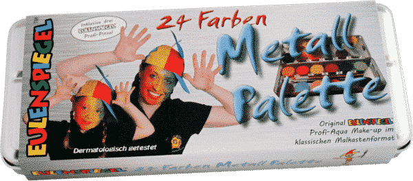24 Farben Metall Palette von Eulenspiegel