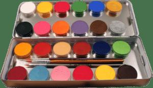 24 Schminkfarben mit Pinsel