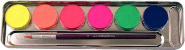 6 Farben Metall-Palette – Neon