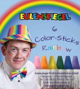 6 Color-Sticks Regenbogen