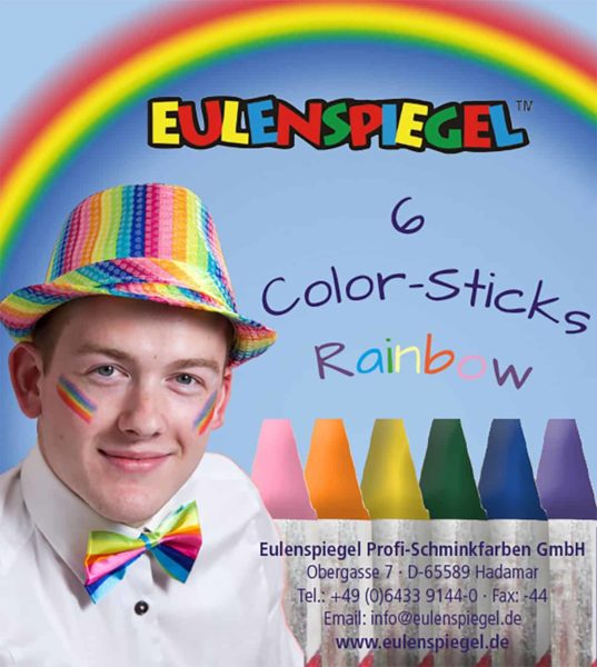 6 Color-Sticks Regenbogen