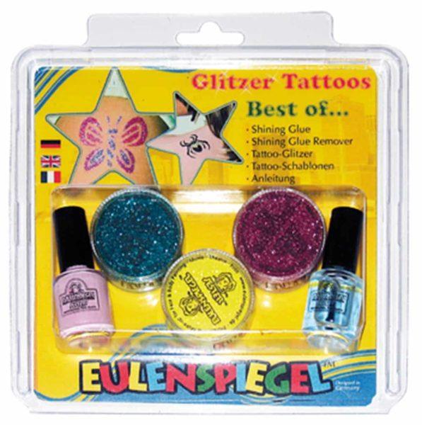 Glitzer Tattoo-Set – Best of (XL)