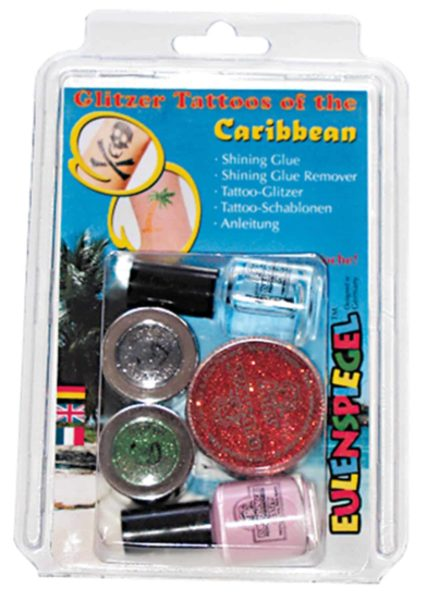Glitter Tattoo-Set Caribbean
