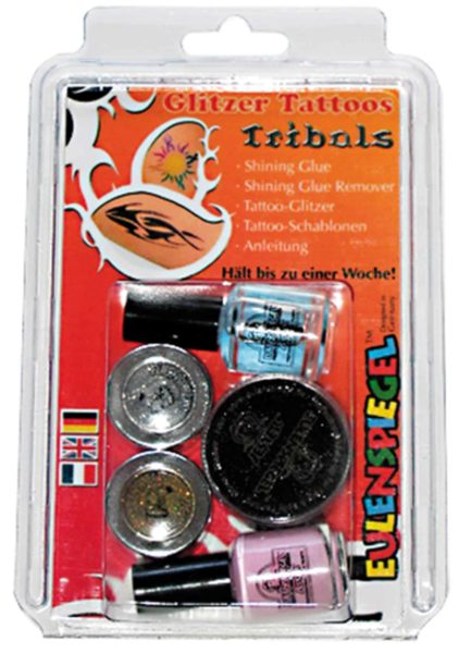 Glitter Tattoo-Set Tribals