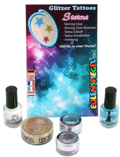 Glitter Tattoo-Set Sterne