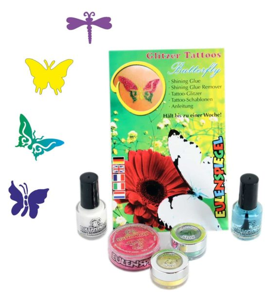 Glitter Tattoo Set Butterfly