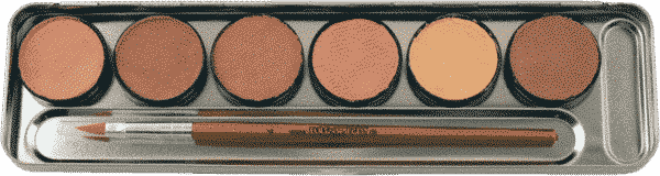 Hautfarben Metall Palette 2
