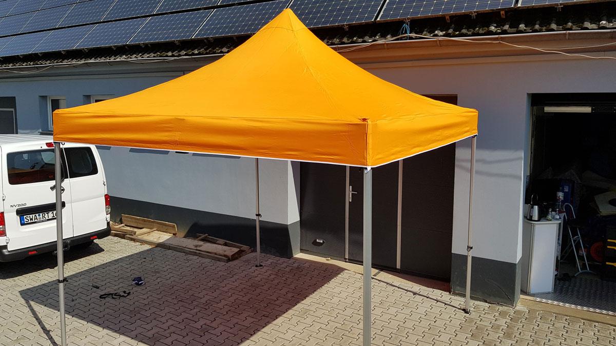 Mietmöbel Pavillon 3x3 orange Draufsicht