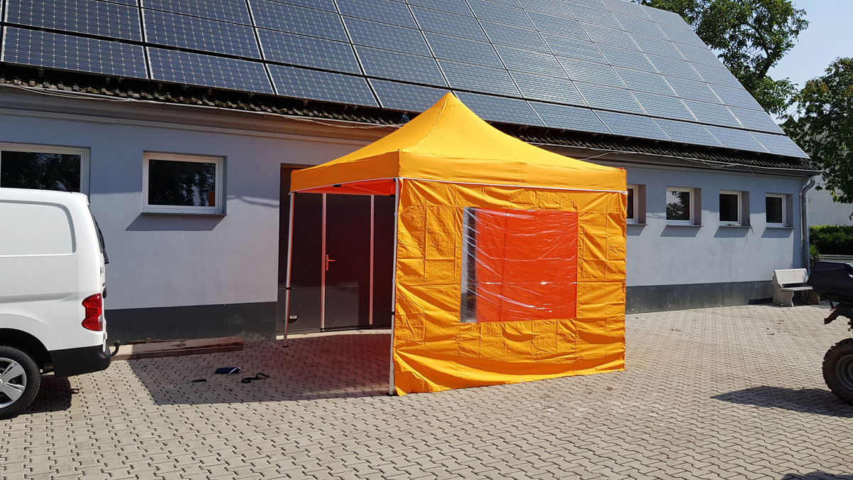 Pavillon 3x3 Meter in der Farbe orange