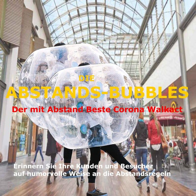 Corona Walkact Abstand-Bubbles