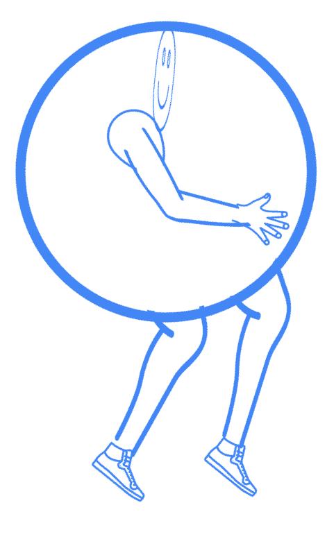 Abstands-Bubbles