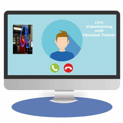 Live Videotraining with personal trainer