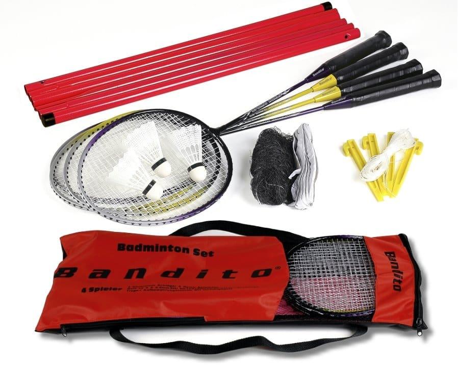"""Badminton Komplettset """"Bandito"""", für 4 Spieler, inkl.Netz"""